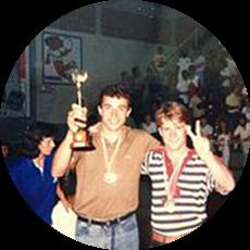 Campeão Interbairros em 1988 de Joaçaba/SC Jânio Rossa(esquerda) e Lindomar Massucato(direita) Grande Amigo